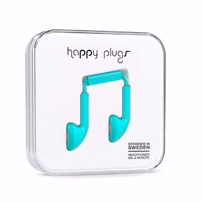 Picture of Trade Happy Plugs Earbud Wired Earphones in Turquoise