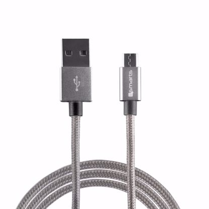 Picture of 4smarts 4smarts RAPIDCord 2m Micro USB Cable in Grey