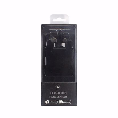 Picture of Trade Goji 4.8A UK 4 Port Mains Charger in Black