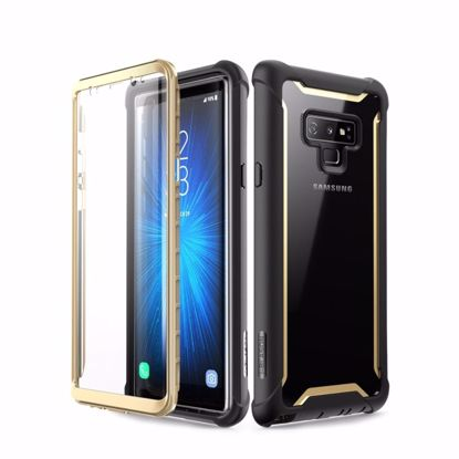 Picture of i-Blason i-Blason Ares Clear Case with Screen Protector for Samsung Galaxy Note 9 in Black/Gold