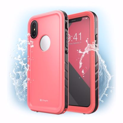 Picture of Clayco Clayco Omni Waterproof Case with Screen Protector for Apple iPhone XS Max in Pink