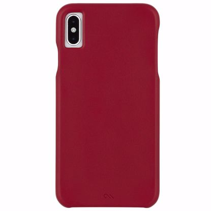 Picture of Case-Mate Case-Mate Barely There Leather Case for Apple iPhone XS Max in Cardinal