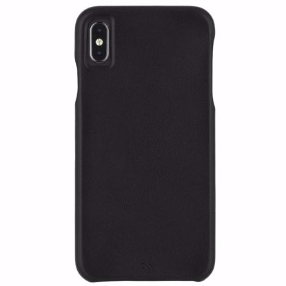 Picture of Case-Mate Case-Mate Barely There Leather Case for Apple iPhone XS/X in Black