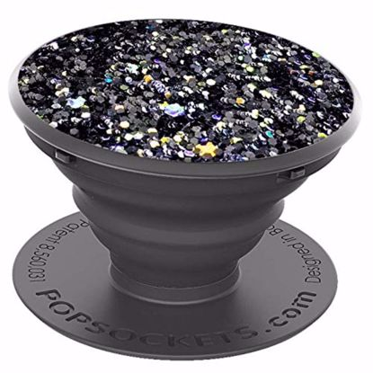 Picture of Popsockets PopSockets PopGrip for Smartphones and Tablets in Sparkle Black