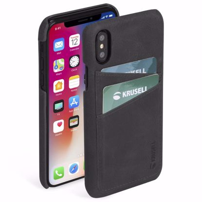 Picture of Krusell Krusell Sunne 2 Card Cover Case for Apple iPhone XS/X Max in Black