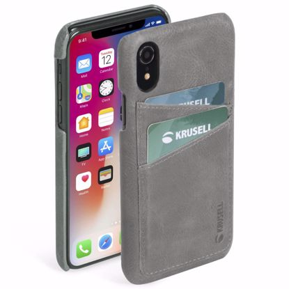 Picture of Krusell Krusell Sunne 2 Card Cover Case for Apple iPhone XR in Grey