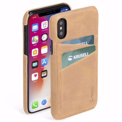 Picture of Krusell Krusell Sunne 2 Card Cover Case for Apple iPhone XS/X in Nude