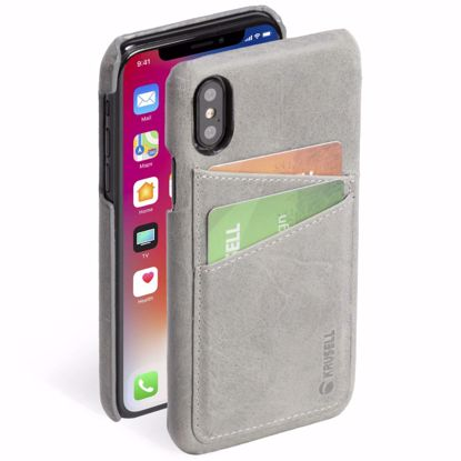 Picture of Krusell Krusell Sunne 2 Card Cover Case for Apple iPhone XS/X in Grey