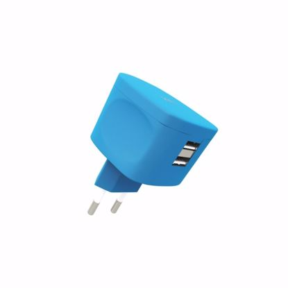 Picture of Kit Kit Fresh EU 3.4A Mains Charger in Blue