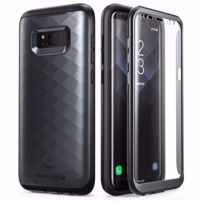 Picture of Clayco Clayco Hera Case with Built-In Screen Protector for Samsung Galaxy S8 in Black
