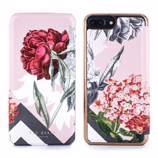 pretty nice 1e869 5a052 Ted Baker Ted Baker EMMARE Mirror Folio Case for Apple iPhone 8/7 in Palace  Gardens