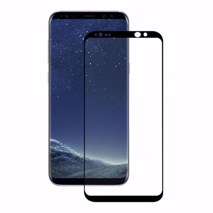 Picture of Eiger Eiger 3D GLASS Full Screen Tempered Glass Screen Protector for Samsung Galaxy S8 in Clear/Black