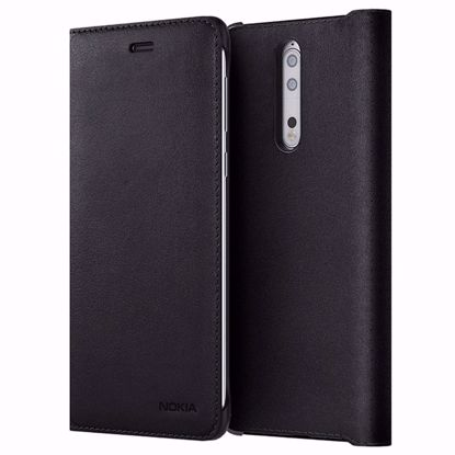 Picture of Nokia Nokia CP-801 Leather Flip Wallet Case for Nokia 8 in Black