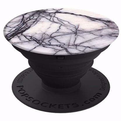 Picture of Popsockets PopSockets PopGrip for Smartphones and Tablets in White Marble
