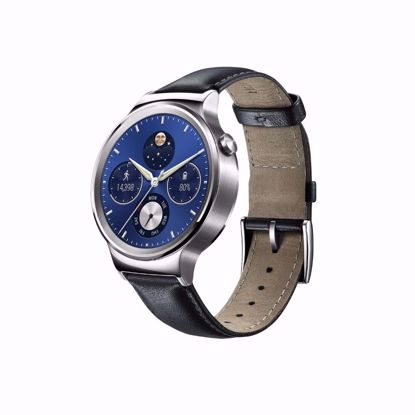 Picture of Huawei Huawei 42mm Smartwatch in Stainless Steel with Black Leather