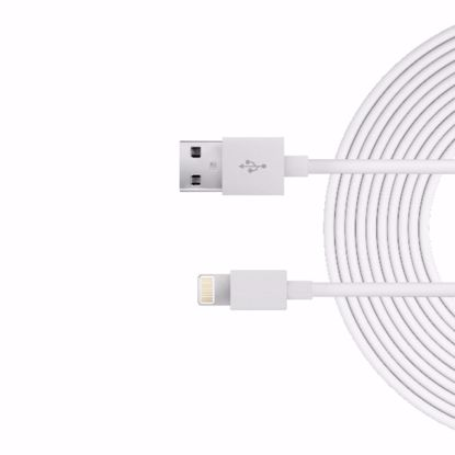 Picture of Just Wireless Just Wireless 3.0m Apple Lightning Charge and Sync Cable in White