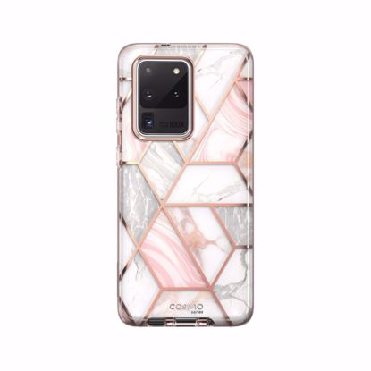 Picture of i-Blason i-Blason Cosmo Case with Screen Protector for Samsung Galaxy S20 Ultra in Marble