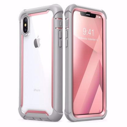 Picture of i-Blason i-Blason Ares Clear Case with Screen Protector for Apple iPhone XS/X in Pink