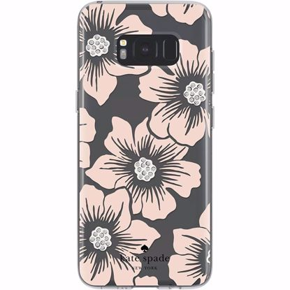 Picture of Kate Spade Kate Spade Hardshell Case for Samsung Galaxy S8 in Floral/Blush with Stones